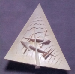 Arnaldo Pomodoro - Scultura - Piatto Triagolare 2013