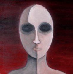 Cristina Sodano (2017) - Protoumano n. 1 - Oil non Canvas 30x30cm